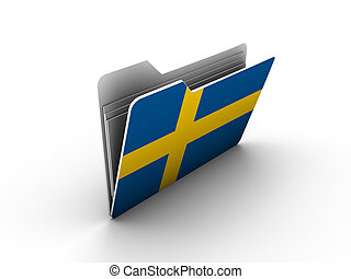 folder icon with flag of sweden