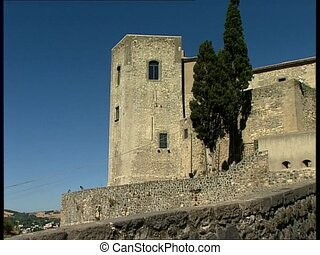 MELFI castle pan - Front view of the norman castle of the...