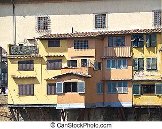 Ponte Vechio -  houses onPonte Vechio bridge in Florence