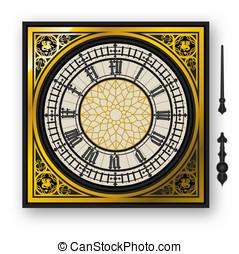 Cuadrante, victoriano, reloj