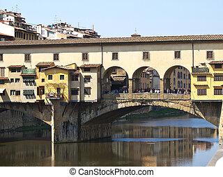 Ponte Vechio bridge in Florence Italy