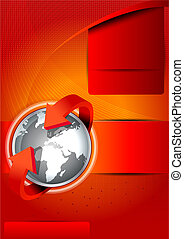 Vector background with continents for brochures - Abstract...