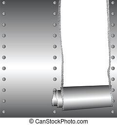 ripped tinware with transparent space for text - vector...