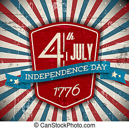 Vector independence day shield poster - Vector independence...