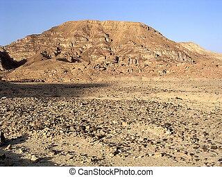 Eilat Arava Desert 2005 - Stone Arava desert near Eilat in...