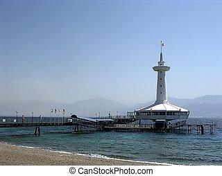 Eilat Oceanarium 2005 - Building of Eilat Oceanarium on the...