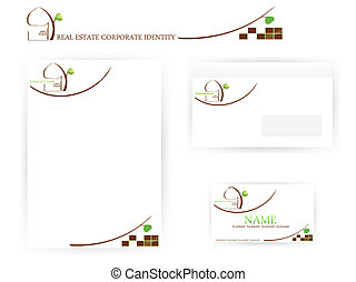 set of real estate corporate identity templates