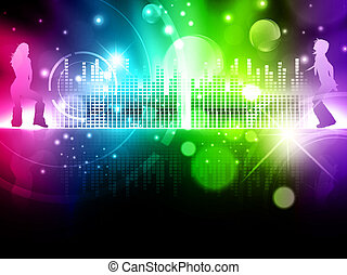 multicolored abstract disco background