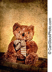 Teddy bear with tie