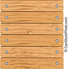 pattern of wooden boards with screws, vector illustration
