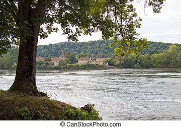 Dordogne river - View at the dordogne river in france