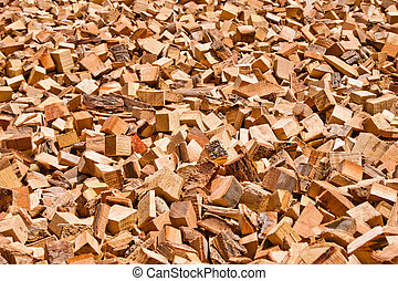 Air-drying of wood pieces - Different size of wood pieces...