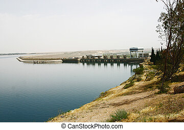 Tabqa Dam Syria - the Tabqa Dam or al-Thawra Dam, as it is...