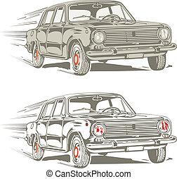 retro car - retro car