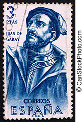 Postage stamp Spain 1962 Juan de Garay, Conquistador - SPAIN...