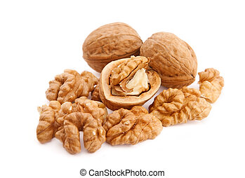 Walnuts on white - Walnuts on isolated white background