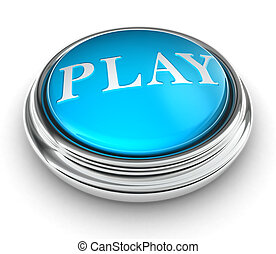 play word on blue button