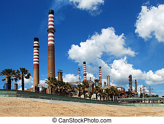 Petro-chemical refinery, Spain. - Petro-chemical refinery,...
