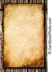 Papier, rauh, Holz, altes, hintergrund
