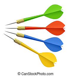 Set of darts vector illustration