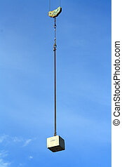 Counterweight suspended in the air - A counterweight...