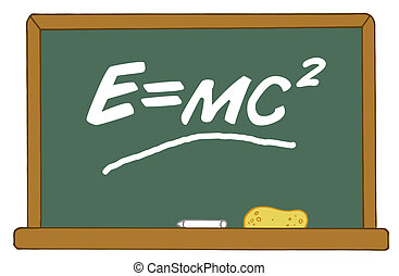 Green Chalk Board - The Mass Energy Equivalence Equation E...