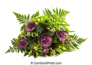 Flowers - Bouquet of flowers isolated on a white background
