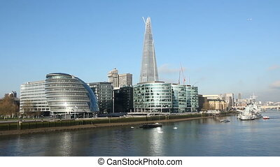 Offices on the Thames. - Offices on the south bank of the...