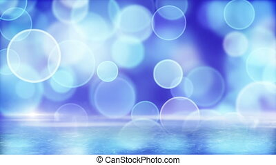 blue circle bokeh lights and ice - blue circle bokeh lights...