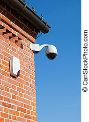Camera and Siren - Secure area and Siren - industrial...