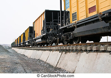 railway platforms - unloading of railway platforms for bulk...