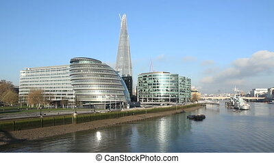 Offices on the Thames - Offices on the south bank of the...