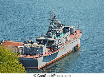 Military ship - Russia's military ship and boat at Black...