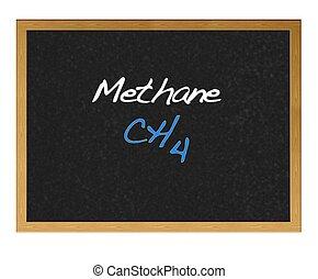 Methane. - Isolated blackboard with Methane.