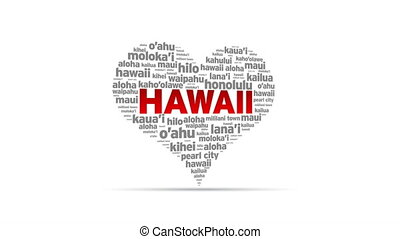 I Love Hawaii - Spinning I Love Hawaii Heart