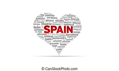 I Love Spain - Spinning I Love Spain Heart