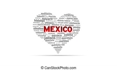 I Love Mexico - Spinning I Love Mexico Heart