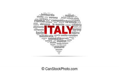 I Love Italy - Spinning I Love Italy Heart