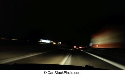 Freeway driving at night