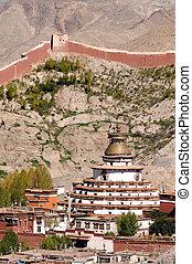 Gyangze lamasery,Tibet - Famous landmark of Gyangze lamasery...