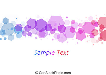 Colourful bokeh from hexagons