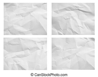 The set of crumpled white paper