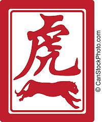 Chinese zodiac. - Chinese zodiac, the tiger.