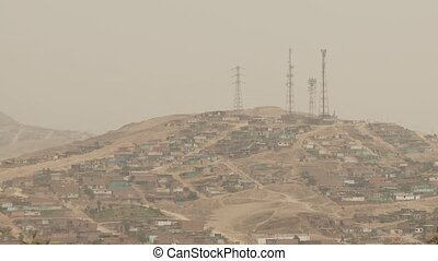 Slums On Hill, Lima, Peru