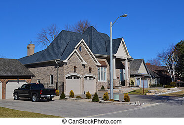 New mansion. - In the suburb of Hamilton on the lake Ontario...