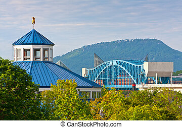 Chattanooga - View of downtown Chattanooga and Lookout...