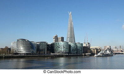 South bank of the Thames. - Offices on the south bank of the...