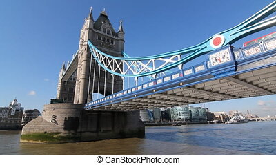 Tower Bridge on sunny morning. - Tower Bridge on the river...