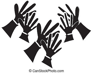Clapping Hands Silhouette - simple drawing of a silhouette...