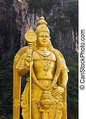 Statue of god Muragan at Batu caves, Kuala-Lumpur, Malaysia